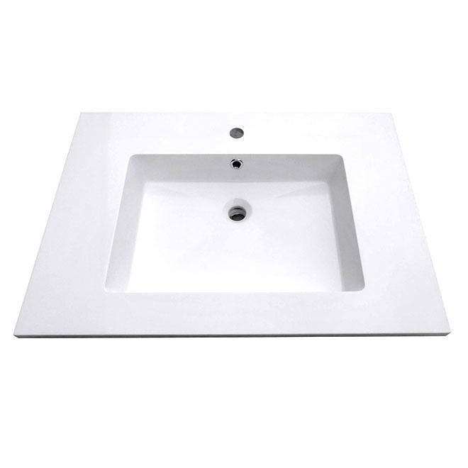 """Dessus de meuble-lavabo, 37"""" x 22"""", blanc"""