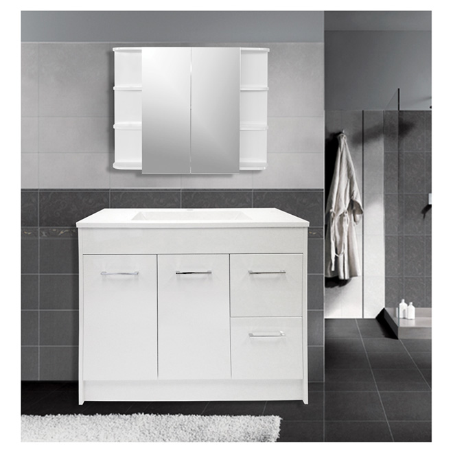 "Vanity and Sink - 2 Doors/2 Drawers - 35 1/4"" - White"