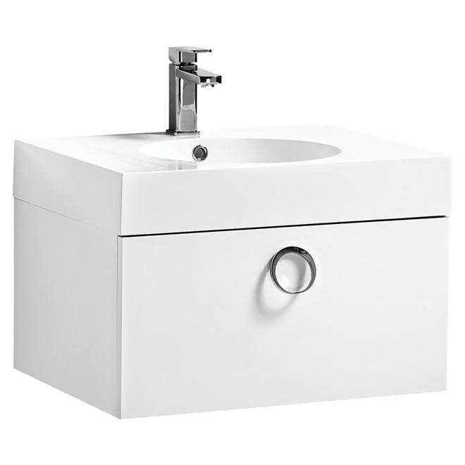 "Meuble-lavabo Relax, 1 tiroir, 23 1/2"", blanc"
