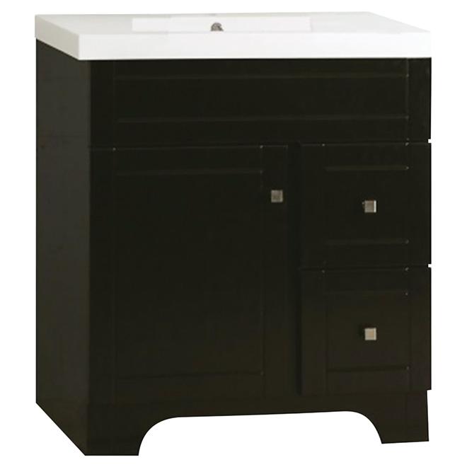Vanity Sink 1 Door 2 Drawers 31 Brown Rona