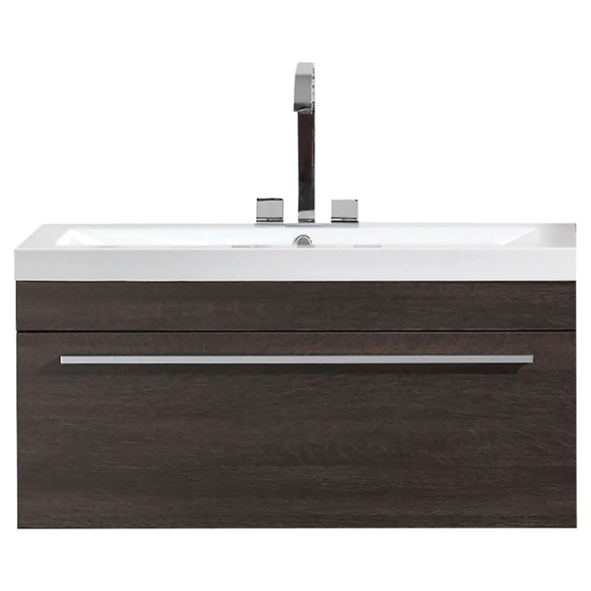 Vanity and Sink - 1 Drawer -35 1/2 - Alamo Oak