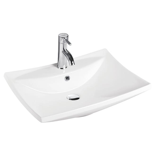 Rectangular Porcelain Vessel - White