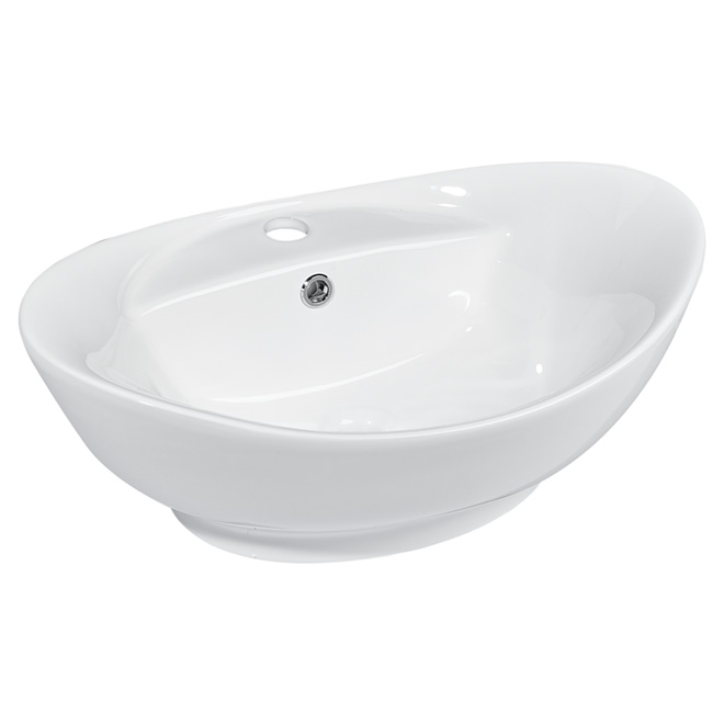 Oval Porcelain Vessel, White
