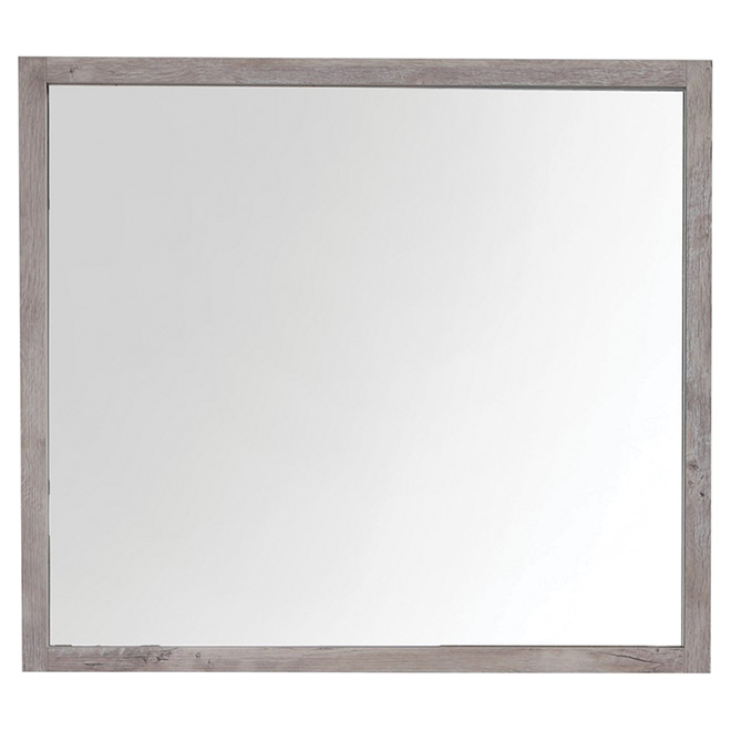 """Countryside Mirror - 35 1/2"""" x 31 1/2"""" -  Natural Wood Color"""