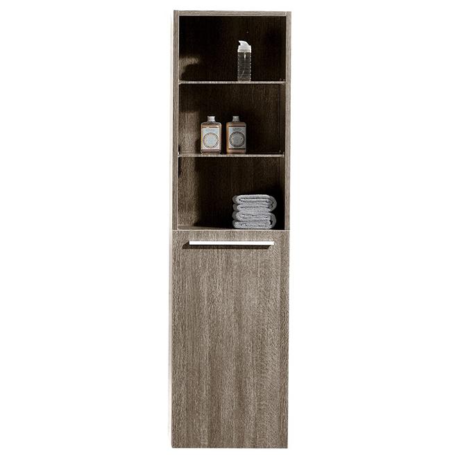 """Linen Cabinet - 1 Door - 2 Shelves - 59"""" - Brown"""