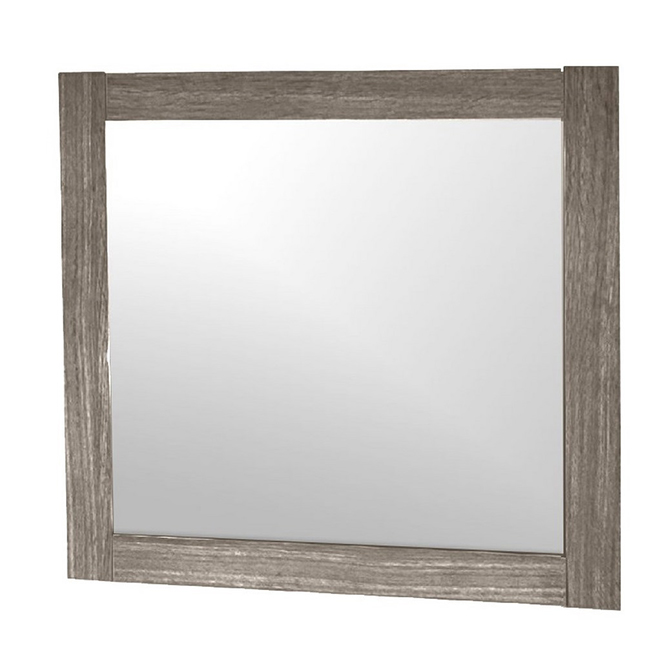 "Faux Wood Framed Mirror - 23 5/8"" x 30"" - Light Oak"