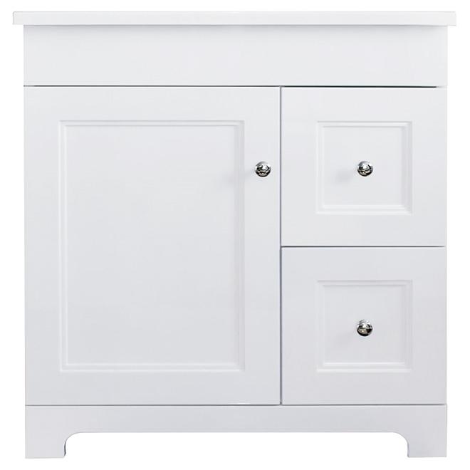 Vanity Sink - 1 Door/2 Drawers - Classic - White