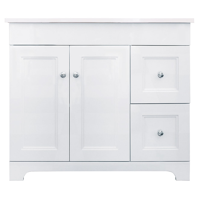 Vanity Sink - 2 Doors/2 Drawers - Classic - White