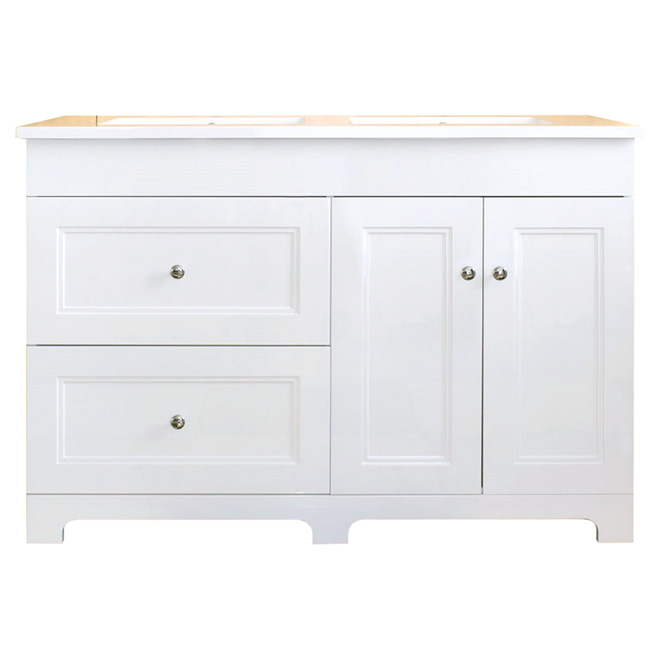 Double Vanity Sink - 2 Doors/2 Drawers - Classic - White