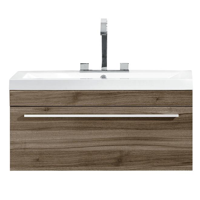 Luxo Marbre Vanity And Sink 1 Drawer 30 1 8 Light Oak Rona