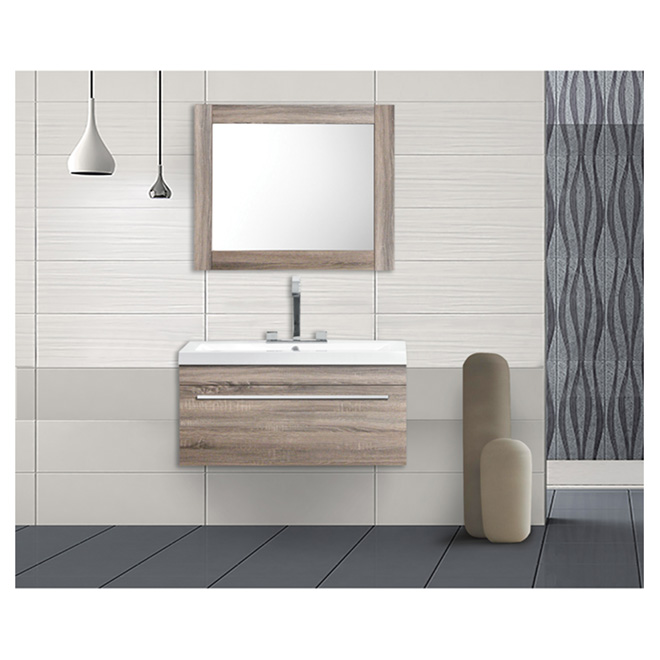 "Vanity and Sink - 1 Drawer - 30 1/8"" - Light Oak"