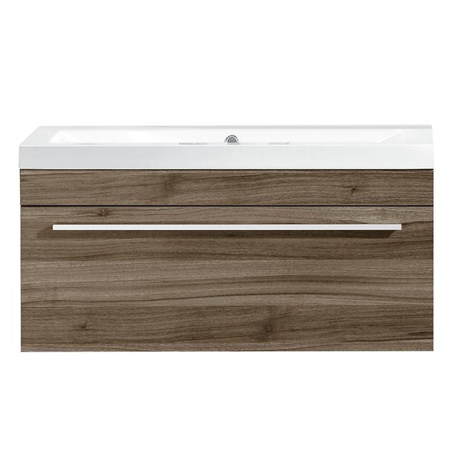 "Meuble-lavabo à 1 tiroir, 35 1/2"", chêne pâle"