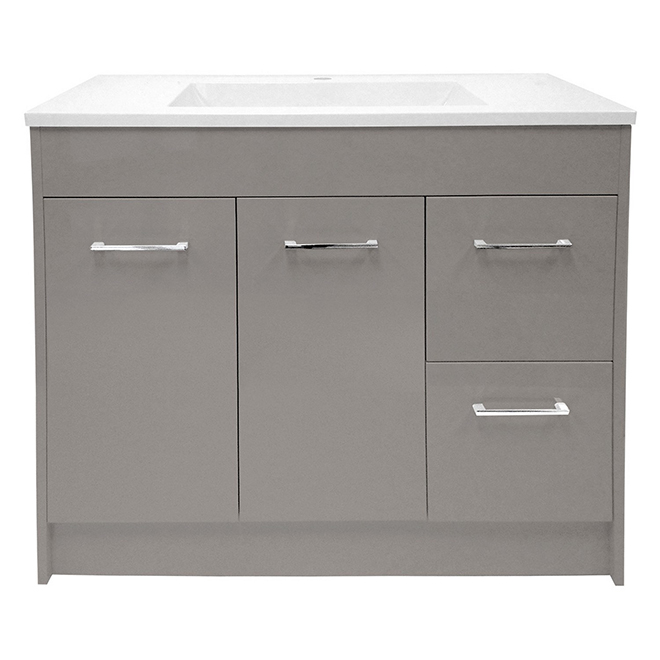"Vanity - 2 Doors - 2 Drawers - 36"" - Grey"
