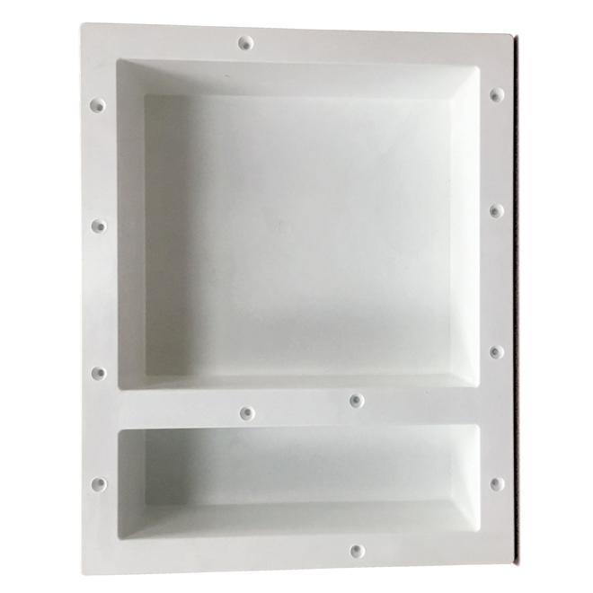 luxo marbre niche de douche double 16 x 20 blanc rona. Black Bedroom Furniture Sets. Home Design Ideas