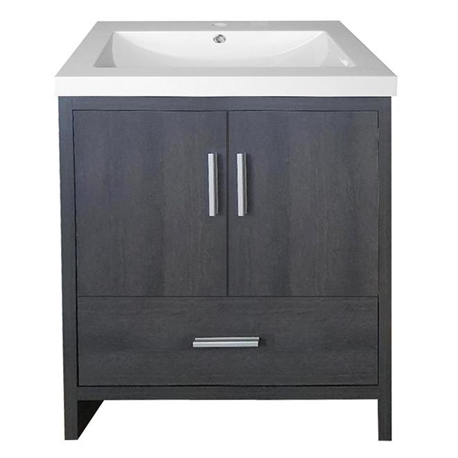 """Meuble-lavabo à 2 portes, 33.5"""", gris chrabon"""