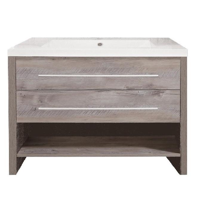 Vanité meuble-lavabo, Relax, 36'', bois naturel