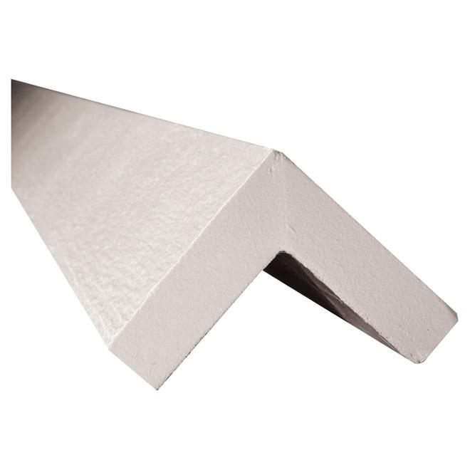 """Moulure d'angle pour coin extérieur, 5/4"""" x 4"""" x 10"""", blanc"""