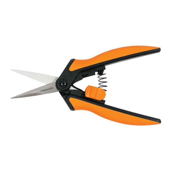 """Cisailles de 6"""" avec pointes de précision, noir/orange"""
