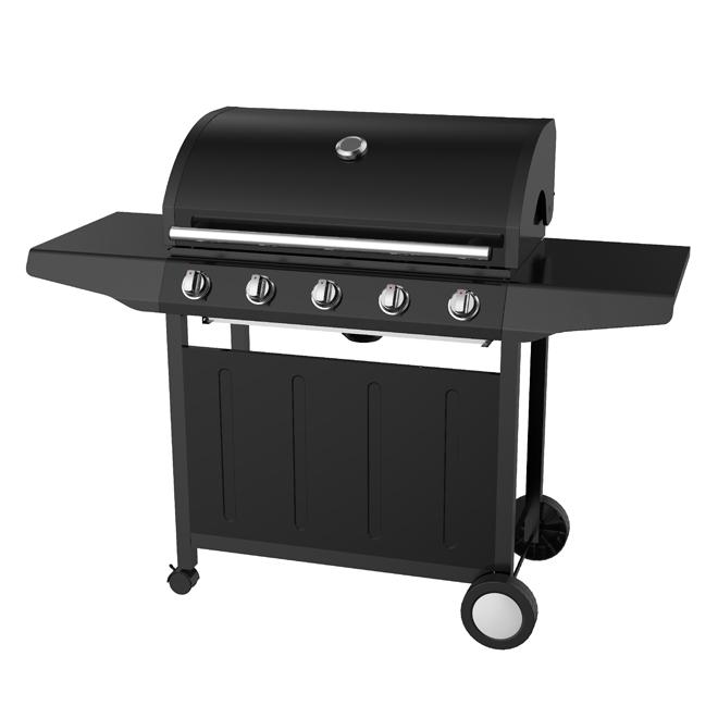 Barbecue au gaz propane, 50000BTU, 726po², noir