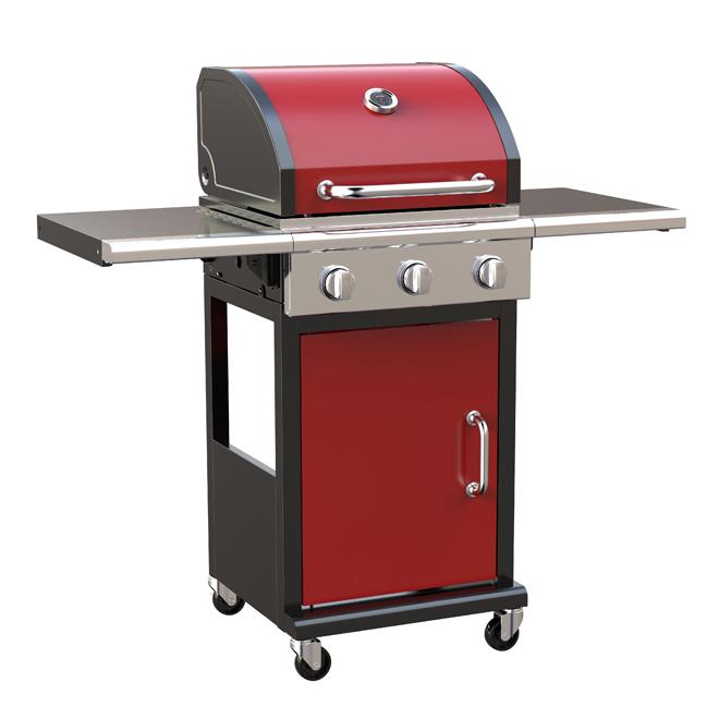 Barbecue au gaz propane, 36000BTU, 460po², rouge