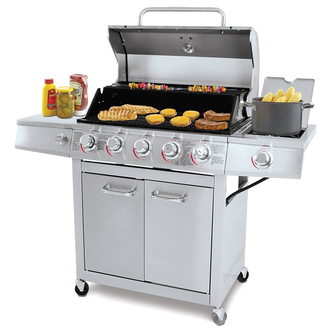 Grill Chef Propane Gas Barbecue - 5 Burner - 72,000 BTU