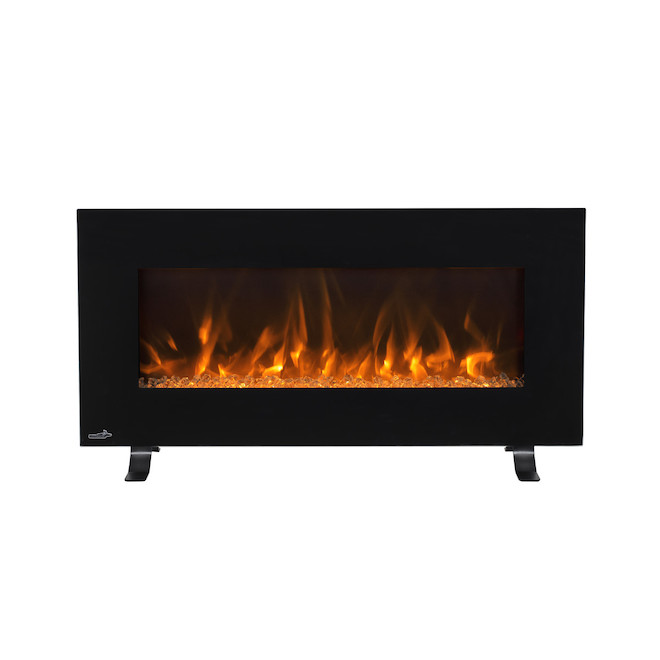 Continental Electric Fireplace - Wall-Mounted or Freestanding - 400 sq. ft. - 42-in x 22-in - Black