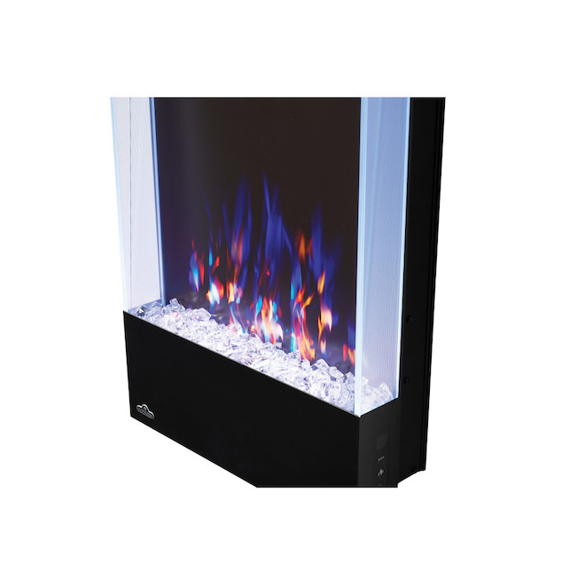 Napoleon Wall-Mounted Vertical Electric Fireplace with Colour Options - 400 sq. ft. - 32-in x 16-in - Black