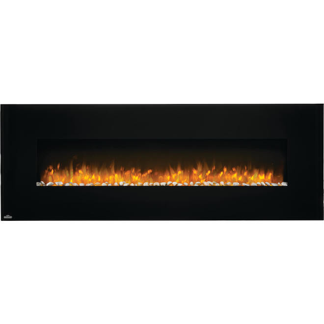 Napoleon Wall-Mounted Electric Fireplace - 60-in - 400 sq. ft. - 750W/1500W - Black