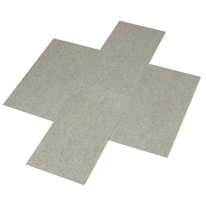 Planches de vinyle pour plancher, 12''x 24'', granite, 8/pqt