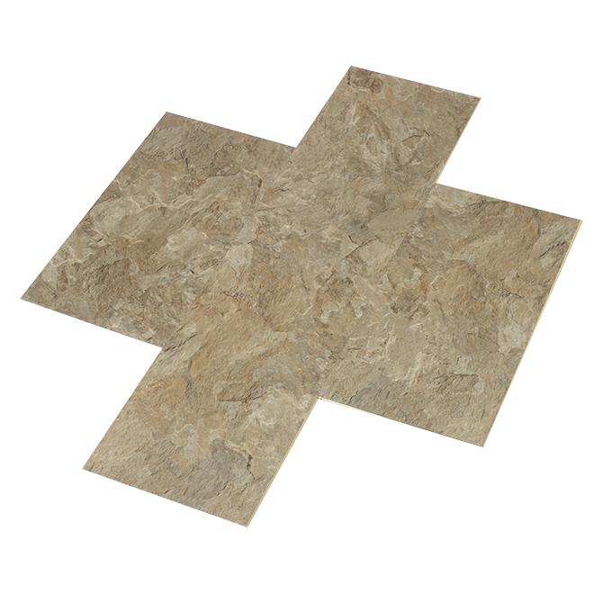 Planches de vinyle pour plancher, 12''x 24'', travertin, 8/pqt
