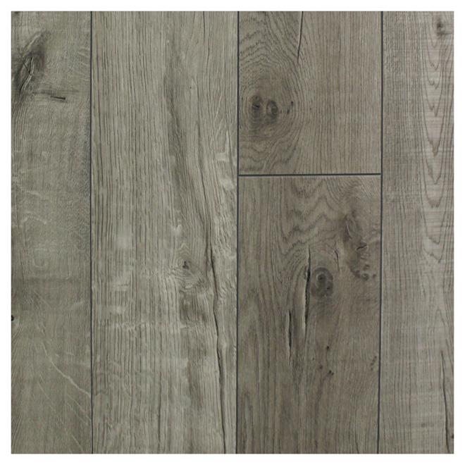 Plancher en vinyle, graphite, 7 mm, 21,25 pi², boîte de 12