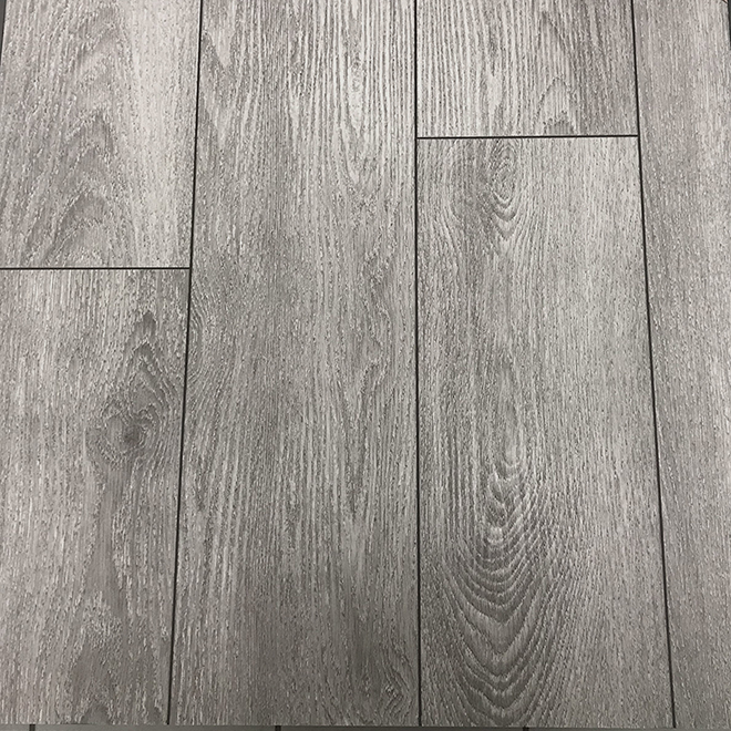 "True Grout Vinyl Planks - 7"" x 36"" - Silver Grey - 12/Box"