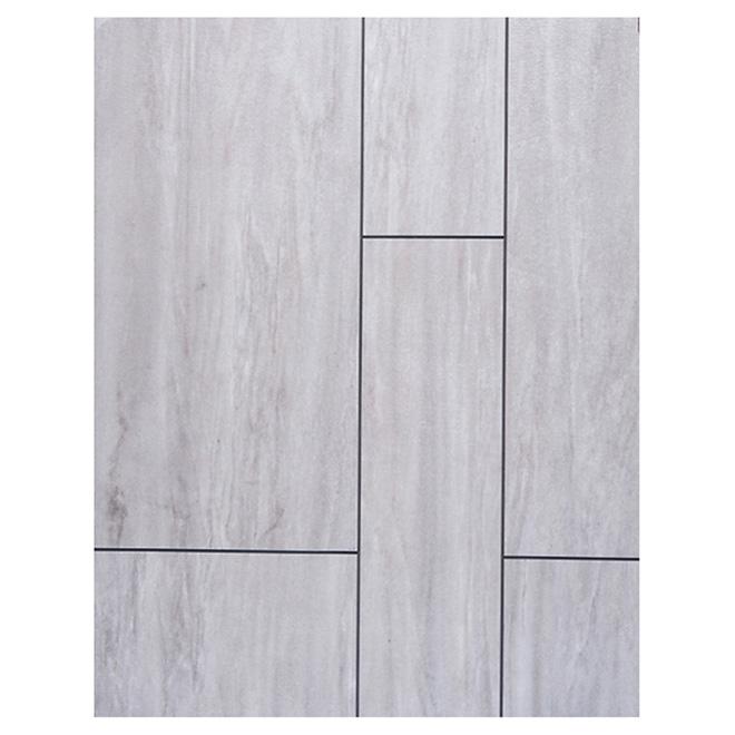 """Tuile de vinyle pour plancher, 6-12"""" x 24"""", tampa"""