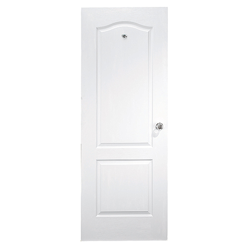 Arched 2-Panels Door - Primed Hardboard - 28 in x 80 in x 1 3/8 in