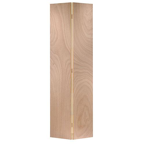 """Bi-Fold """"Lauan"""" Door - 24 in x 80 in x 1 3/8 in - Mahogany Veneer"""