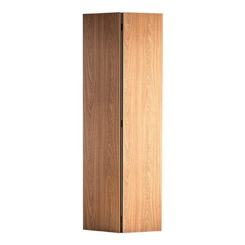 Porte pliante à 2 volets 36 x 80 po - Fini chêne