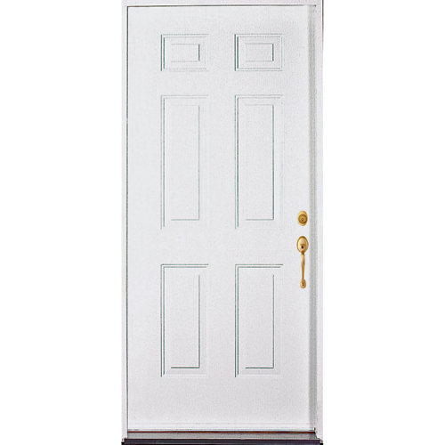 Masonite Steel Entry Door - 4 9/16-in Jamb - White - 32-in W x 80-in L - Energy Star Qualified