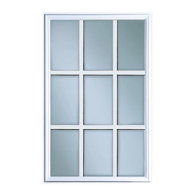 Masonite 9 Panel Exterior Door Lite 22 X 36 White 77c106