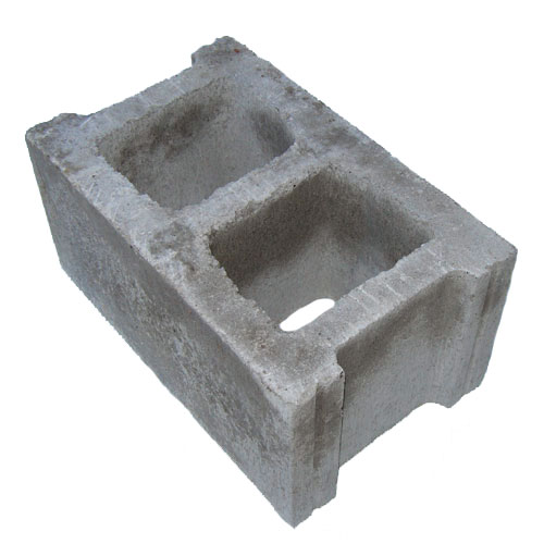 Permacon Standard Concrete Block - 16-in x 8-in x 10-in - Grey