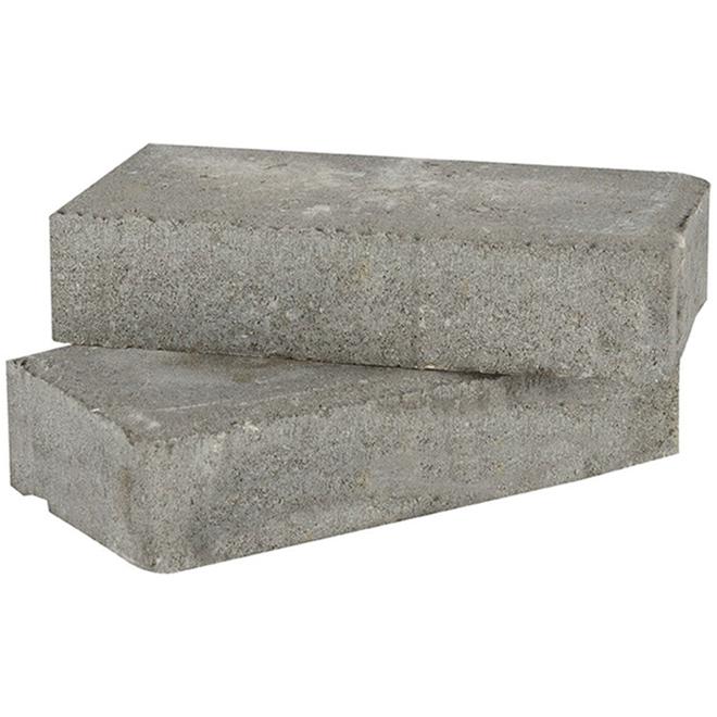 Permacon Concrete Back-Up Brick - 2 1/4-in x 4-in x 8-in - Grey