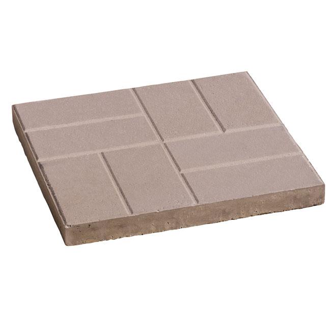 """Dalle de patio à motifs de brique, 16"""" x 16'', gris"""
