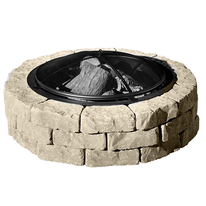 Concrete Fire Pit Kit Beltis - 43'' - Shaded Beige