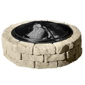 Concrete Fire Pit Kit Beltis - 43'' - Shaded Beige