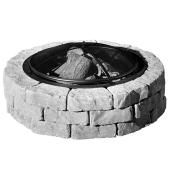 Concrete Fire Pit Kit Beltis - 43'' - Shadow Blend