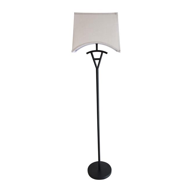 """Lampe sur pied 57"""", noir/beige"""
