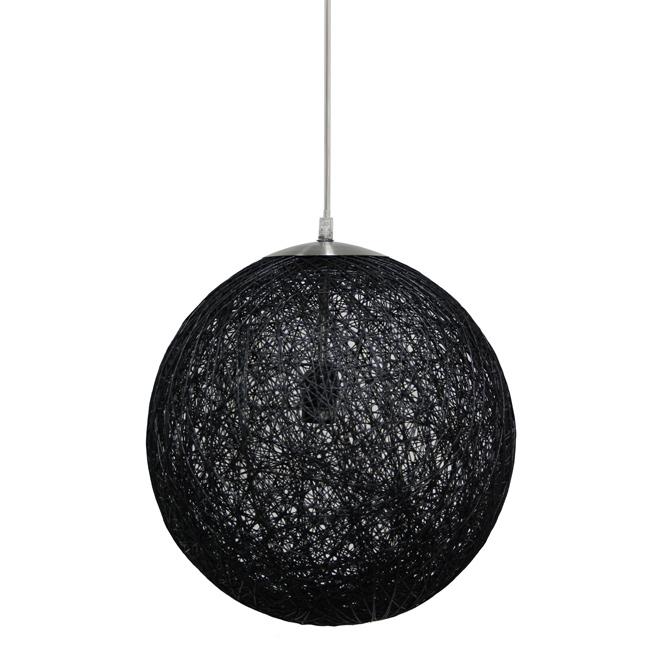 Suspension 1 lumière «Rafiya» Uberhaus, 13,8'', noir