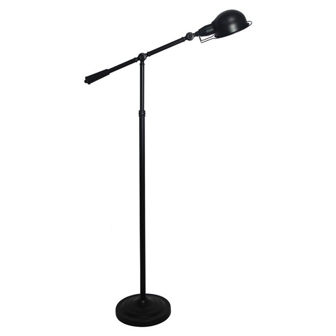 """Lampe sur pied ajustable 64,6"""", noir"""