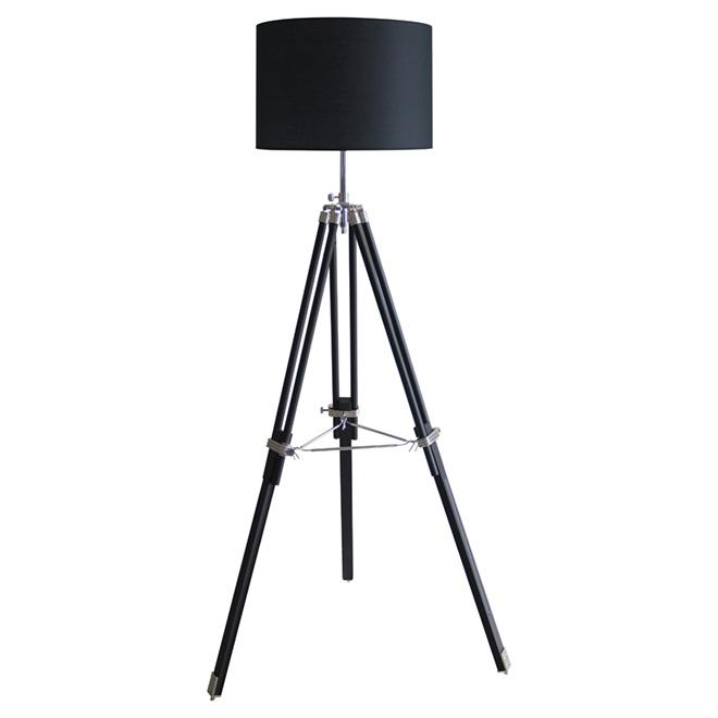 """Lampe sur trépied 70"""", noir"""