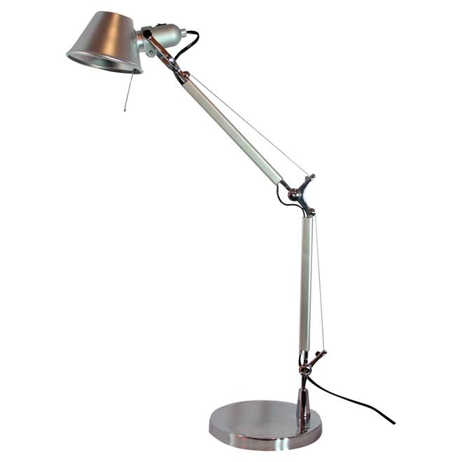 Lampe de table ajustable, 31,5 po, nickel satiné