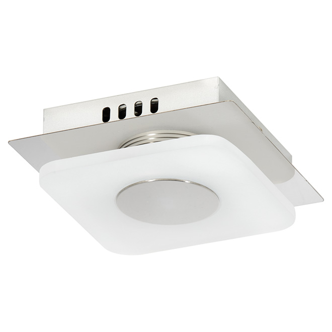 """Luminaire encastré à 1 lumière DEL, 5,5"""", chrome et blanc"""